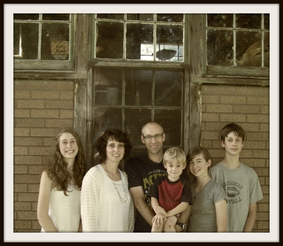 My family at Grandpa's print shop