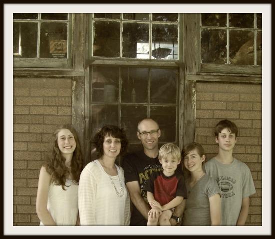 My family at Grandpa's print shop