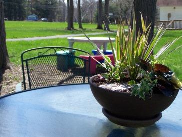 Easter garden outside!
