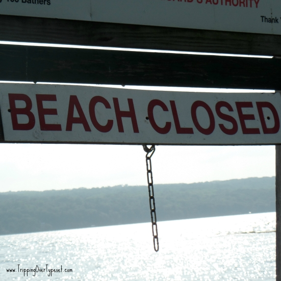 closed beach